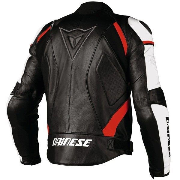 Dainese Avro C2 leather jacket black.white. red fluo