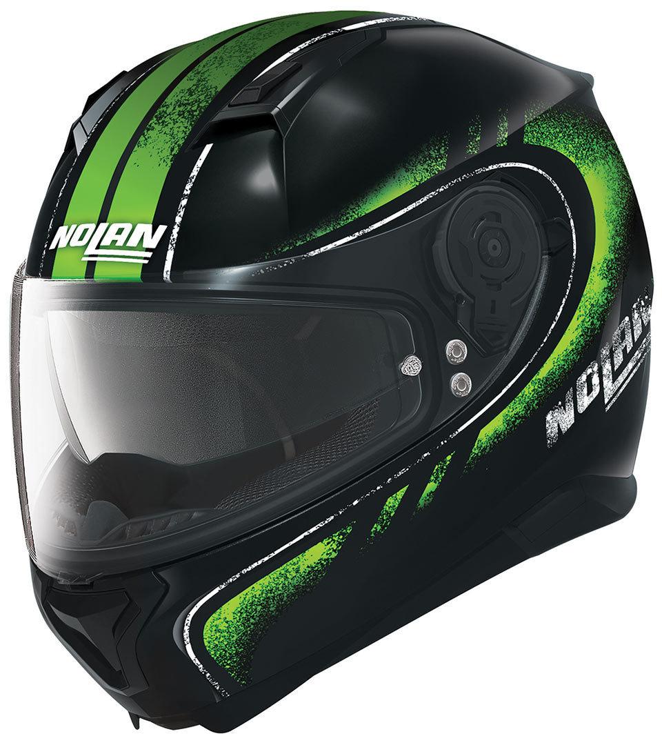 Casco casco integrale Nolan N87 Fulgor N-Com nero verde