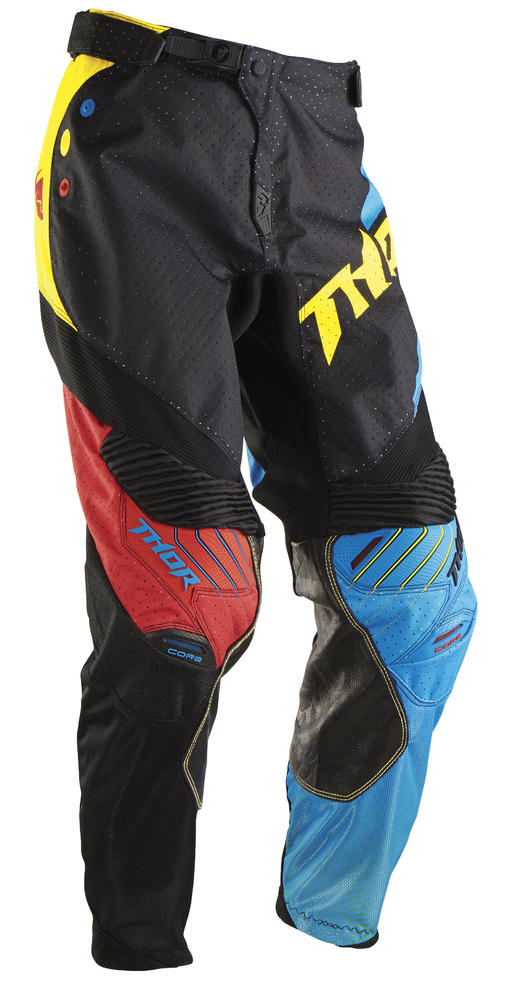 Pantaloni cross Thor Core Air Divide nero multi