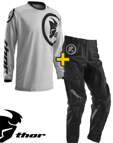 Kit Cross Thor Phase Gasket - Maglia e Pantaloni - heather nero