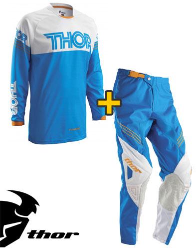 Kit Cross Thor Phase  Hyperion - Maglia e Pantaloni - blu bianco