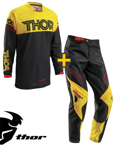 Kit Cross Thor Phase Hyperion - Maglia e Pantaloni - nero giallo oro