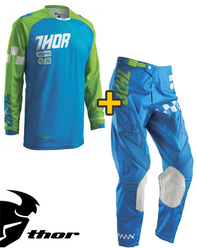 Kit Cross Thor Phase Ramble - Maglia e Pantaloni - blu verde