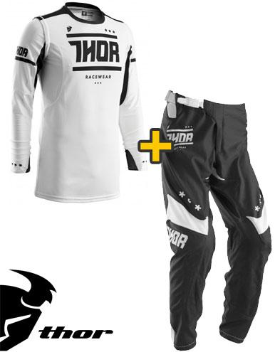 Kit Cross Thor Prime Fit Squad- Maglia+ Pantaloni - bianco nero