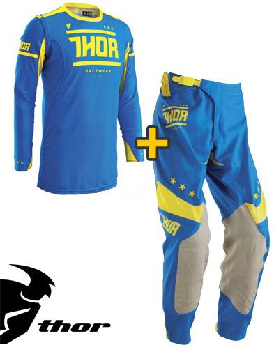 Kit Cross Thor Prime Fit Squad- Maglia+ Pantaloni - blu giallo
