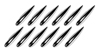 Decor Fins, set 12 pinne cromate adesive