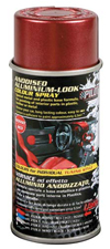 Vernice spray effetto alluminio anodizzato - Rosso