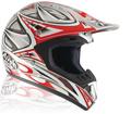 x Casco moto cross Airoh Runner rosso