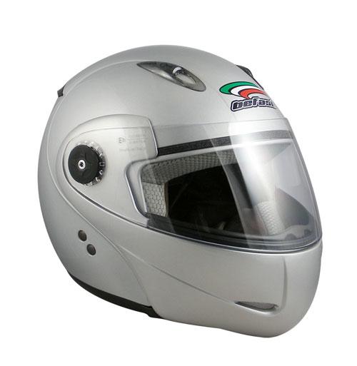 Casco moto modulare Befast Modulo silver