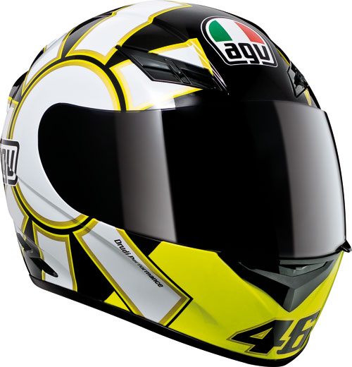 Casco moto Agv K-3 Top Gothic 46 nero