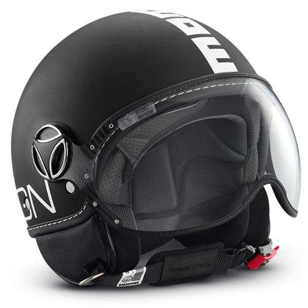 Momo Design Fighter jet helmet Matt Black White