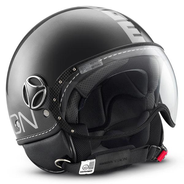 Fighter Jet Helmet Momo Design Titanium polished silver