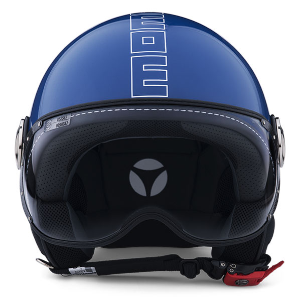 Jet Helmet Momo Design Fighter Glam Glossy Cobalt Blue