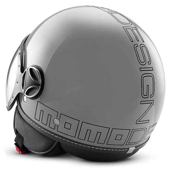 Casco jet Momo Design Fighter Glam Grigio Lucido