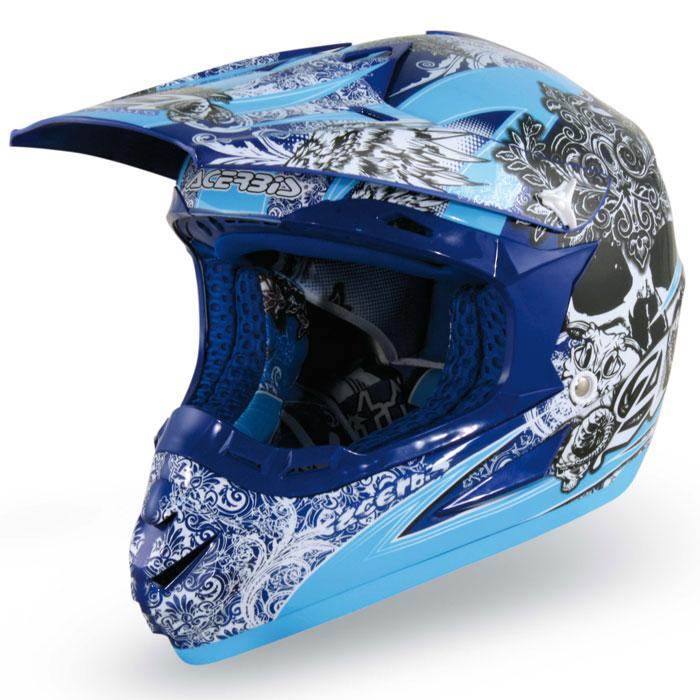 Casco cross Acerbis Condor Blu
