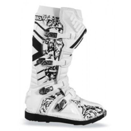 Acerbis Motocross Boots White Graffiti