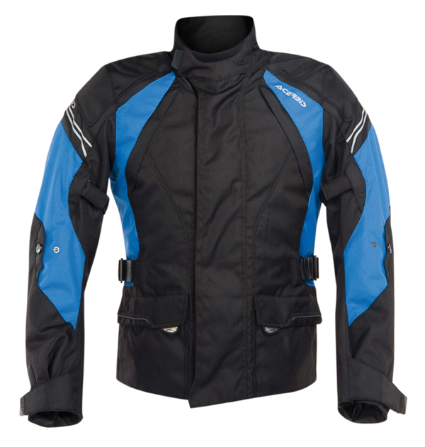 Acerbis Motorcycle Jacket Black Blue Hill Bray