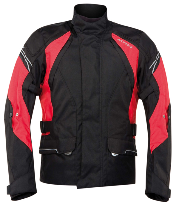 Acerbis Motorcycle Jacket Black Red Hill Bray