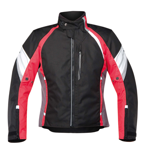 Red motorcycle jacket Acerbis Castletown