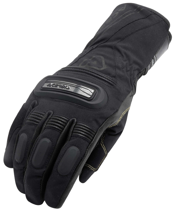 Gloves leather and fabric Black Acerbis Sandygate