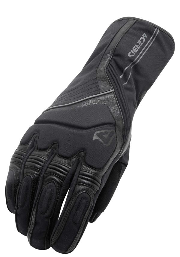 Black Leather Gloves Acerbis Cronk