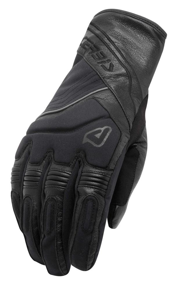 Black Leather Gloves Acerbis Balling