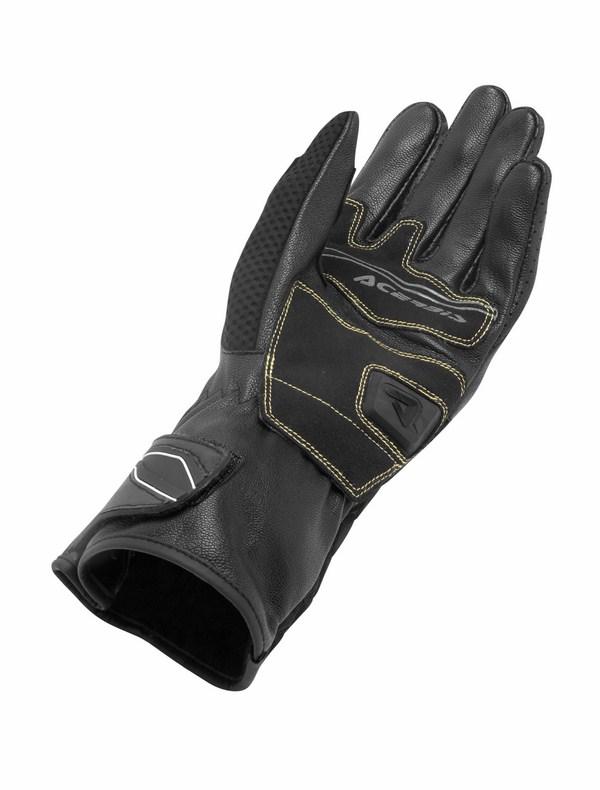 Black Leather Gloves Acerbis Keppelgate