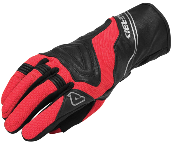 Gloves leather and fabric corner Windy Acerbis Black Red