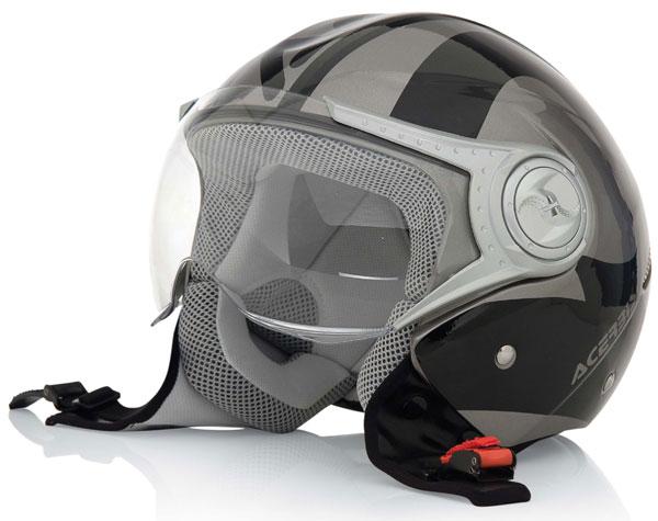 Urban motorcycle helmet jet Jet Grey Black Acerbis