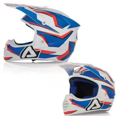 Casco motocross Acerbis Fiber Atomik Blue