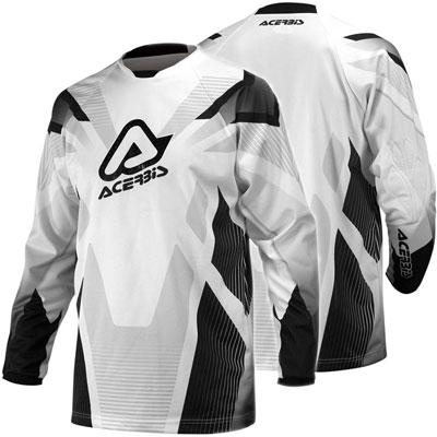 Motocross Jersey Black Acerbis Profile