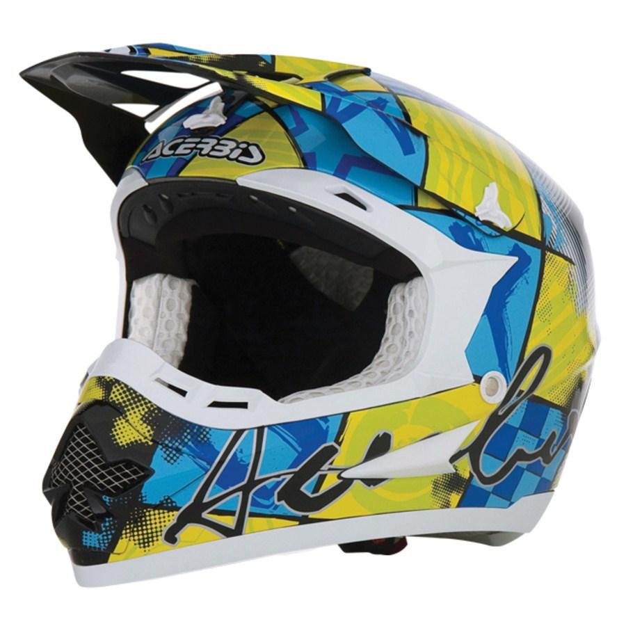 Casco Acerbis Motocross Fanatic Giallo/Blu