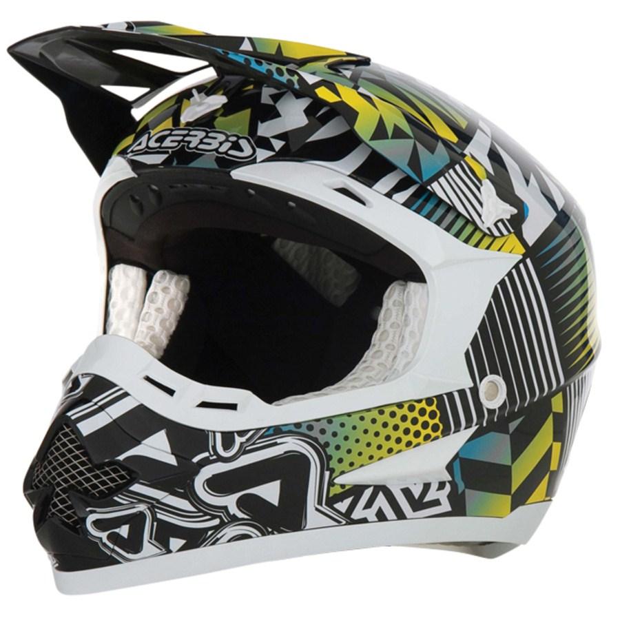 Casco Acerbis Motocross Revolution Verde/Bianco