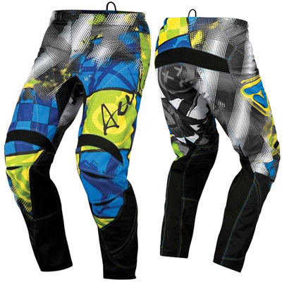 Pants Acerbis Motocross Fanatic Black / Yellow