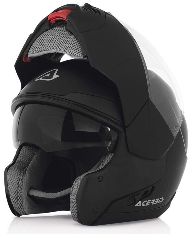 Casco moto modulare Sulby Nero Acerbis con mentoniera 180 gradi
