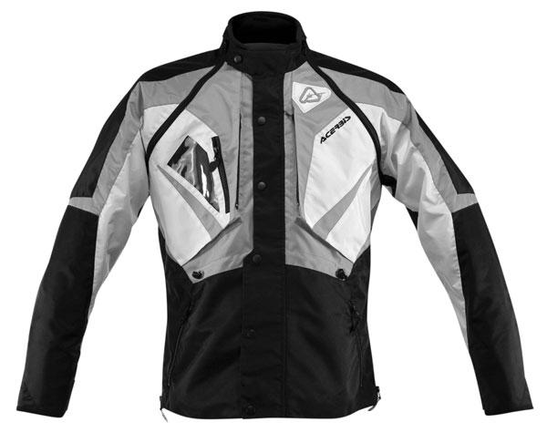 Giacca motocross Acerbis Impact con maniche staccabili Nero