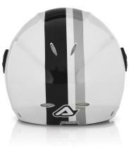 Acerbis X-JET Stripes jet helmet white black