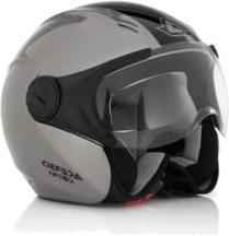 Casco moto jet Acerbis X-JET Stripes grigio-nero