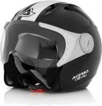 Acerbis X-JET Stripes jet helmet black-white
