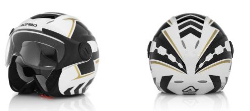 Acerbis X-JET Top Gun jet helmet white-black