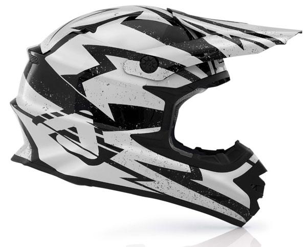 Acerbis X-Pro Cross Helmet White Black Firefly
