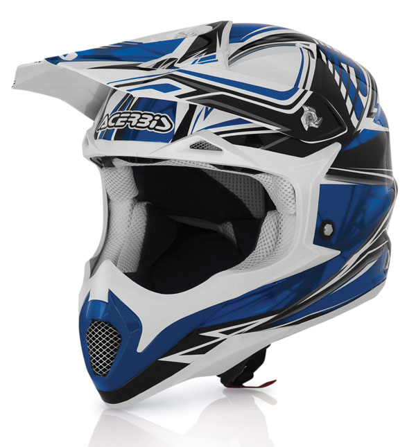 Acerbis Impact Blue Cross helmet Bombshell