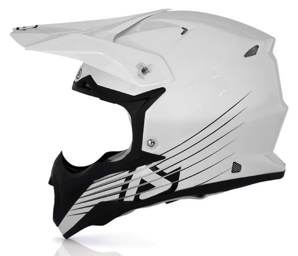 Casco cross Acerbis Impact Full White