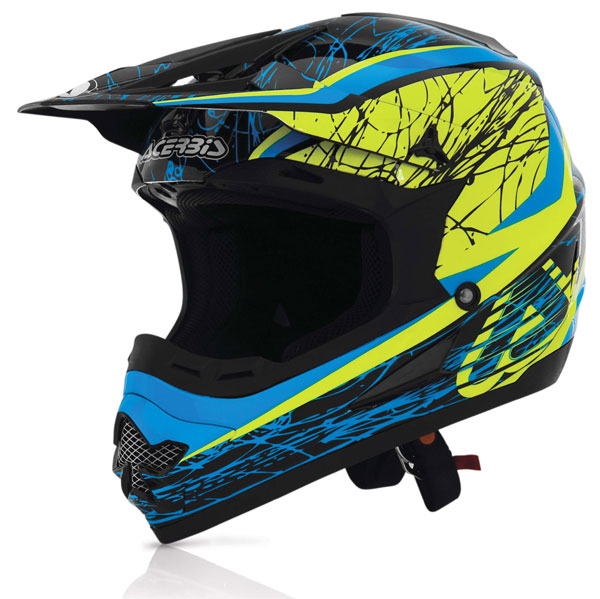 Casco cross Acerbis Profile Gipsy Blu Giallo