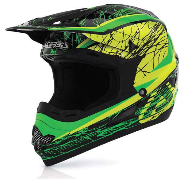 Casco cross Acerbis Profile Gipsy Verde Giallo