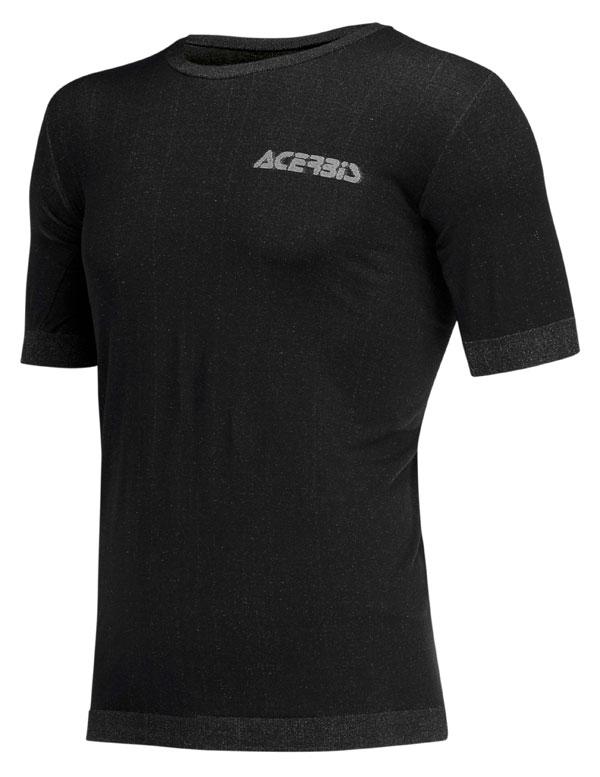 Knitted underwear short sleeves Acerbis Black Ceramic