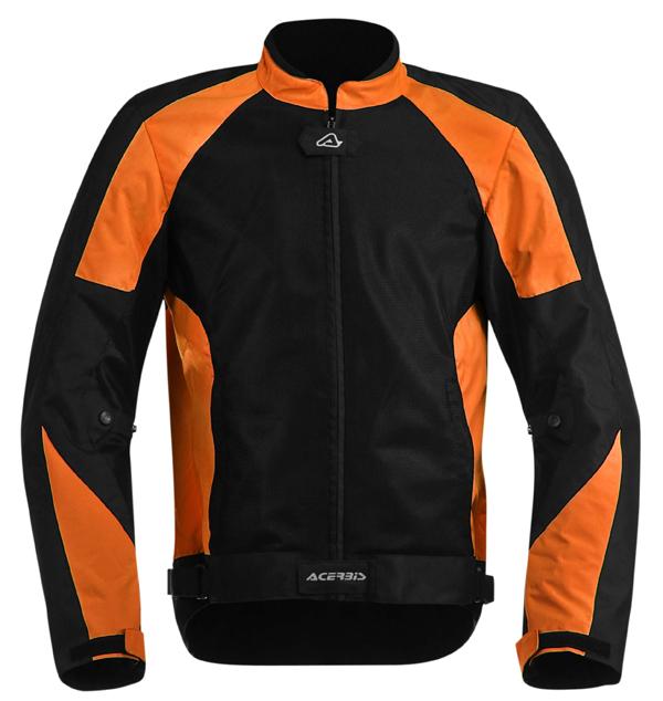 Acerbis Vented Motorcycle Jacket Ramsey My Black Orange