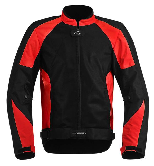 My Acerbis Vented Motorcycle Jacket Black Red Ramsey