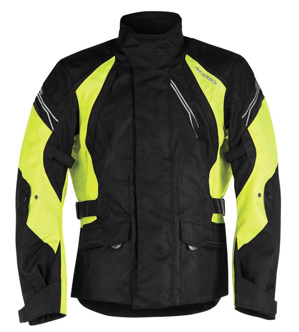 Acerbis Motorcycle Jacket Black Yellow Triskele