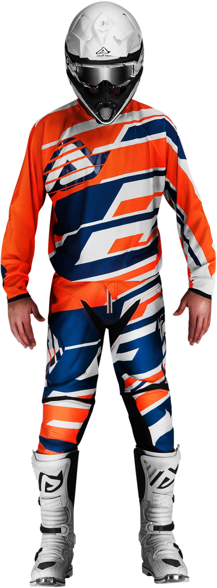 Pantaloni cross Acerbis Profile Arancio Blu